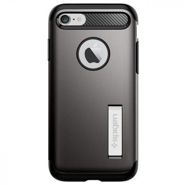 Чехол-накладка Spigen Case Slim Armor Gun Metal for iPhone 7 (SGP-042CS20301)