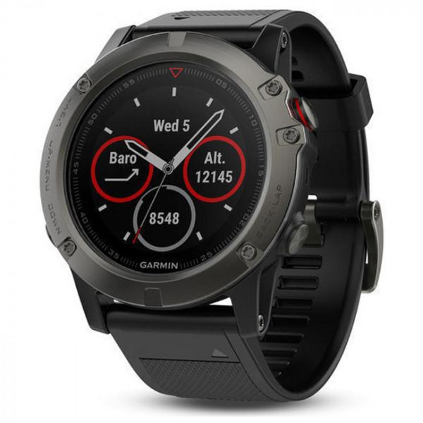 Смарт-часы Garmin Fenix 5x Slate Gray Sapphire with Black Band (010-01733-00)