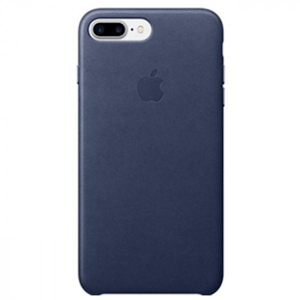 Чехол Apple iPhone 7 Plus Leather Case Midnight Blue (MMYG2)
