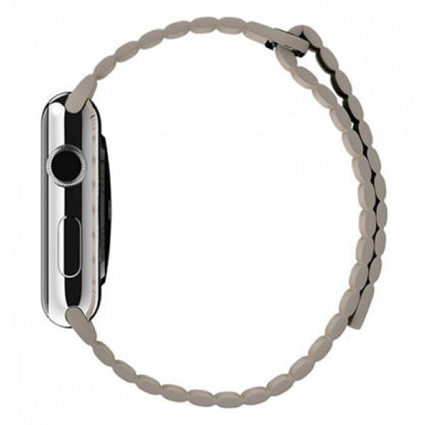 Ремешок Apple Watch 42mm Leather Loop Stone (MJ4X2)