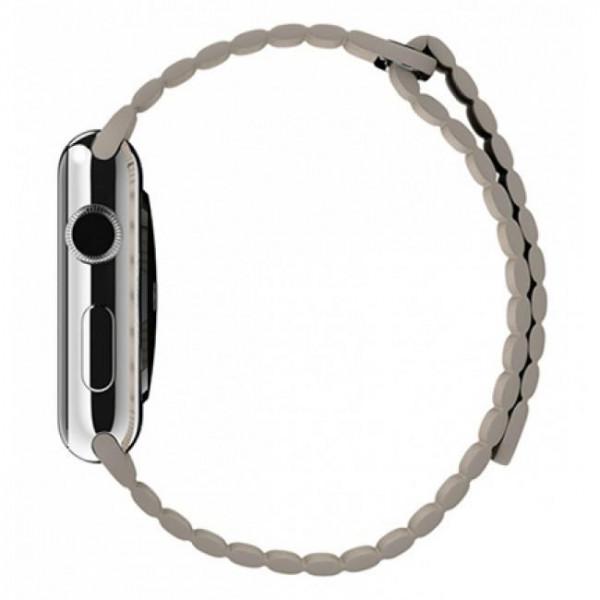 Ремешок Apple Watch 42mm Leather Loop Stone (MJ4Y2)