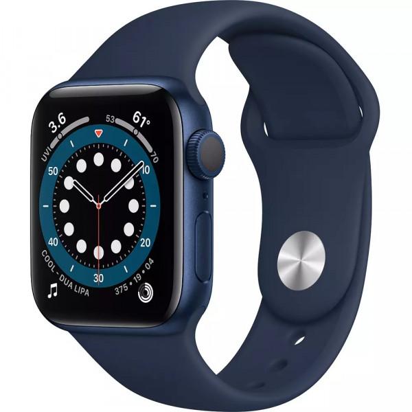 Apple Watch Series 6 GPS 40mm Blue Aluminum Case with Deep Navy Sport Band (MG143)