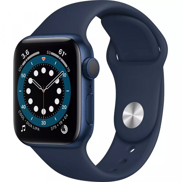 Apple Watch Series 6 GPS 44mm Blue Aluminum Case with Deep Navy Sport Band (M00J3)