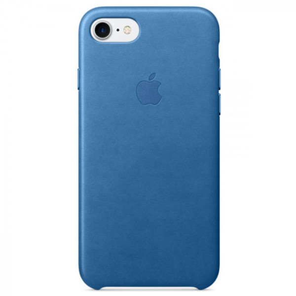 Чехол Apple iPhone 7 Leather Case Sea Blue (MMY42)