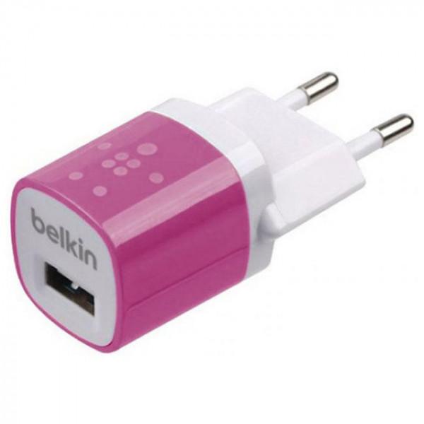 Сетевое зарядное устройство Belkin 1A 1-USB (Pink) (F8JO17E)