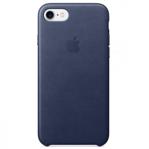 Чехол Apple iPhone 7 Leather Case Midnight Blue (MMY32)
