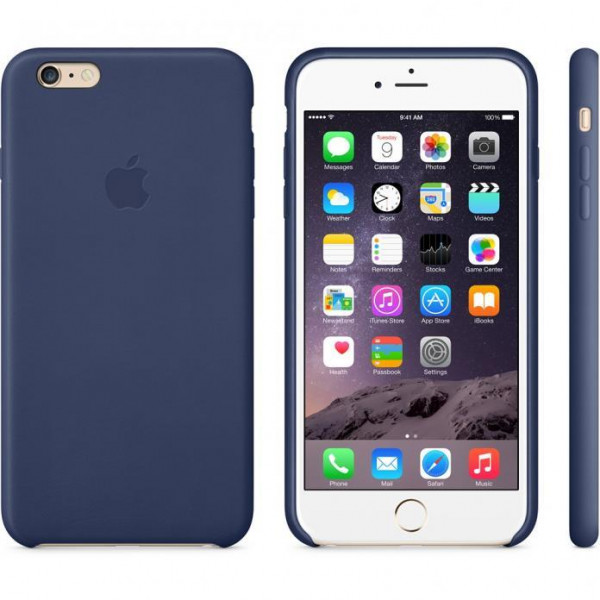 Чехол Apple iPhone 6 Plus Leather Case Midnight Blue (MGQV2)