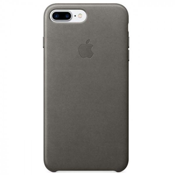Чехол Apple iPhone 7 Plus Leather Case Storm Gray (MMYE2)