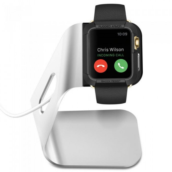 Подставка Spigen Apple Watch Stand S330 Silver (SGP11555)