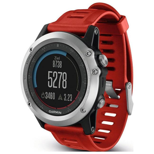 Смарт-часы Garmin Fenix 3 Multisport Training GPS Watch (Silver with Red Band)