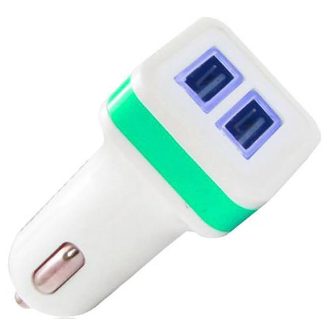 Автомобильное зарядное устройство Gelius Gold Edition 2.4A 2-USB (White/Green)