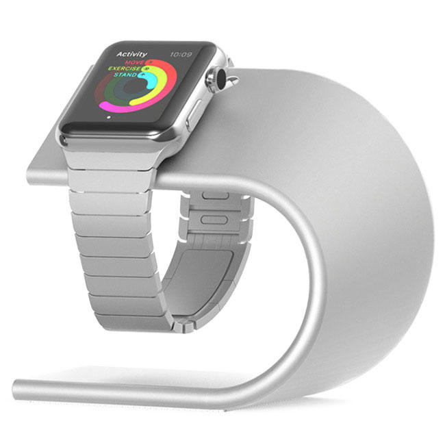 Подставка Nomad Silver Stand Apple Watch Charger - STAND-APPLE-S-001