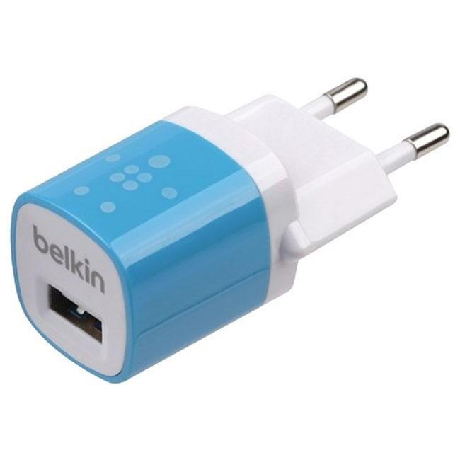 Сетевое зарядное устройство Belkin 1A 1-USB (Blue) (F8JO17E)