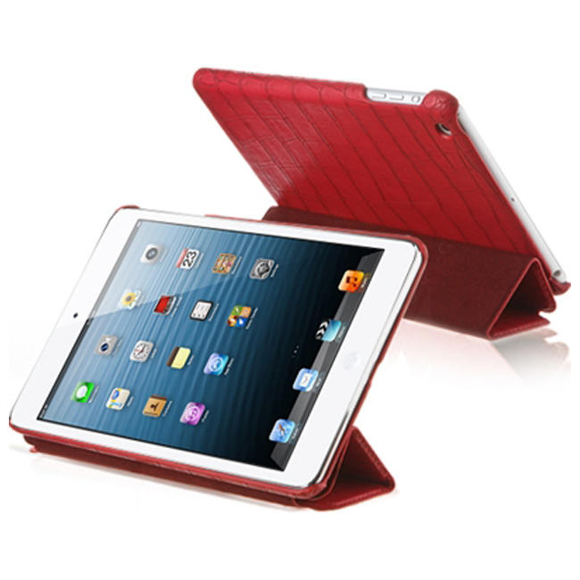 Чехол-книжка Verus Crocodile PU Leather Case for iPad Mini (Red) (VSIP6IK4R)