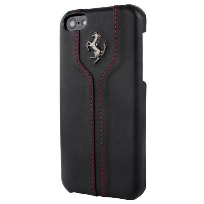 Чехол-накладка Ferrari Montecarlo Leather Cover Case For iPhone 5/5S (Black)