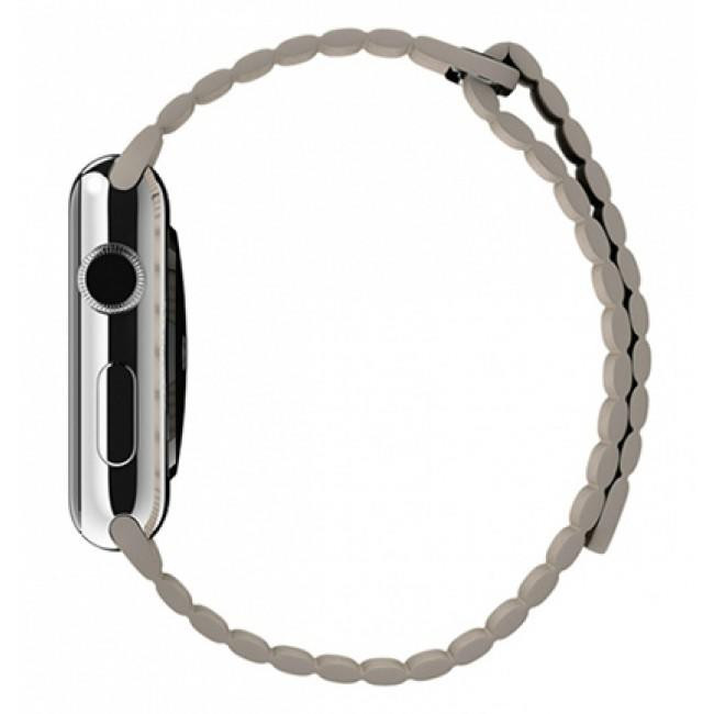 Ремешок Apple Watch 42mm Leather Loop Stone (MJ4Y2)