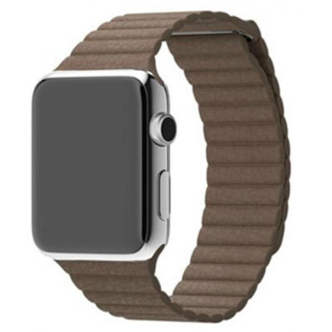 Ремешок Apple Watch 42mm Leather Loop Light Brown (MJ522)