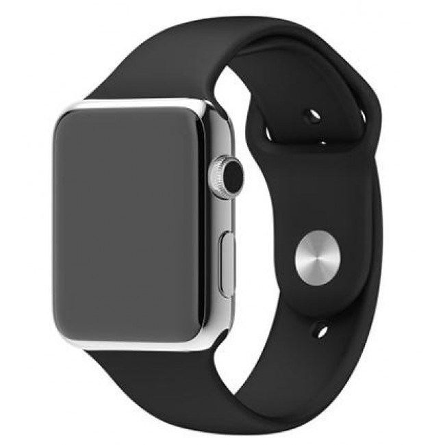 Ремешок Apple Watch 38mm Sport Band Black With Space Black Pin (MJ4F2)