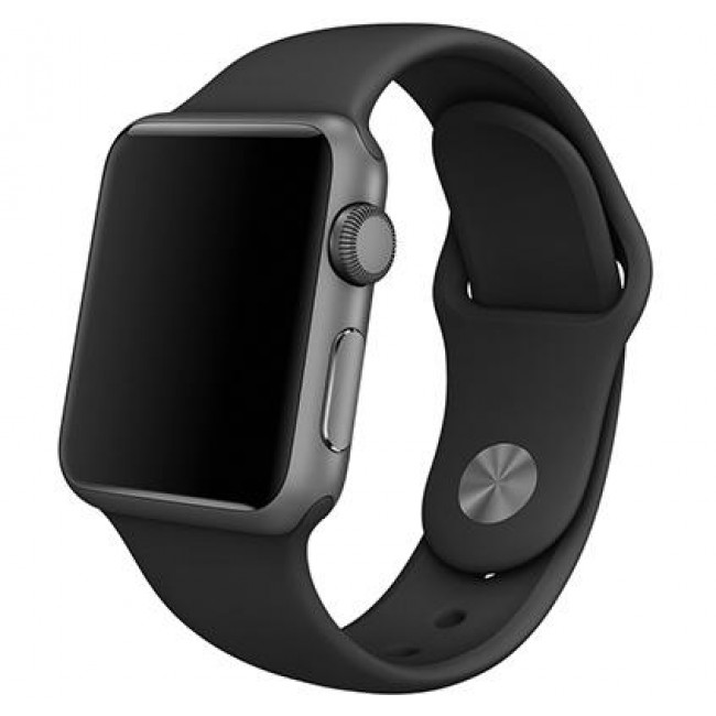 Ремешок Apple Watch 38mm Sport Band Steel Pin Black With Space Gray (MJ4G2)