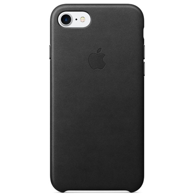 Чехол Apple iPhone 7 Leather Case Black (MMY52)
