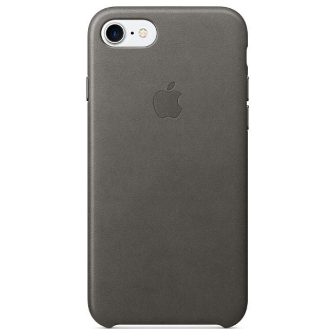 Чехол Apple iPhone 7 Leather Case Storm Gray (MMY12)