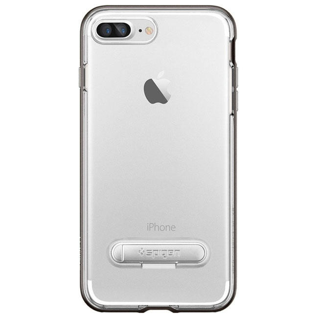 Чехол-накладка Spigen Case Crystal Hybrid Gun Metal for iPhone 7 Plus (SGP-043CS20508)