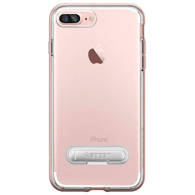 Чехол-накладка Spigen Case Crystal Hybrid Rose Gold for iPhone 7 Plus (SGP-043CS20510)