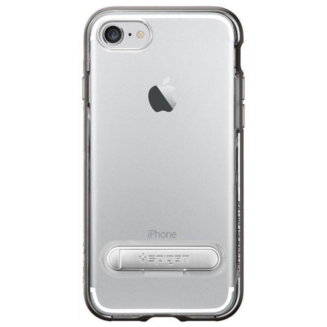 Чехол-накладка Spigen Case Crystal Hybrid Gunmetal for iPhone 7 (SGP-042CS20459)