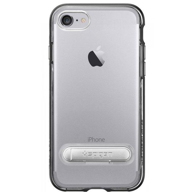 Чехол-накладка Spigen Case Crystal Hybrid Black for iPhone 7 (SGP-042CS20671)