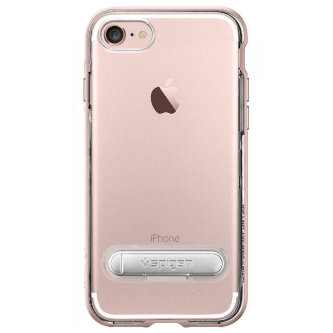 Чехол-накладка Spigen Case Crystal Hybrid Rose Gold for iPhone 7 (SGP-042CS20461)