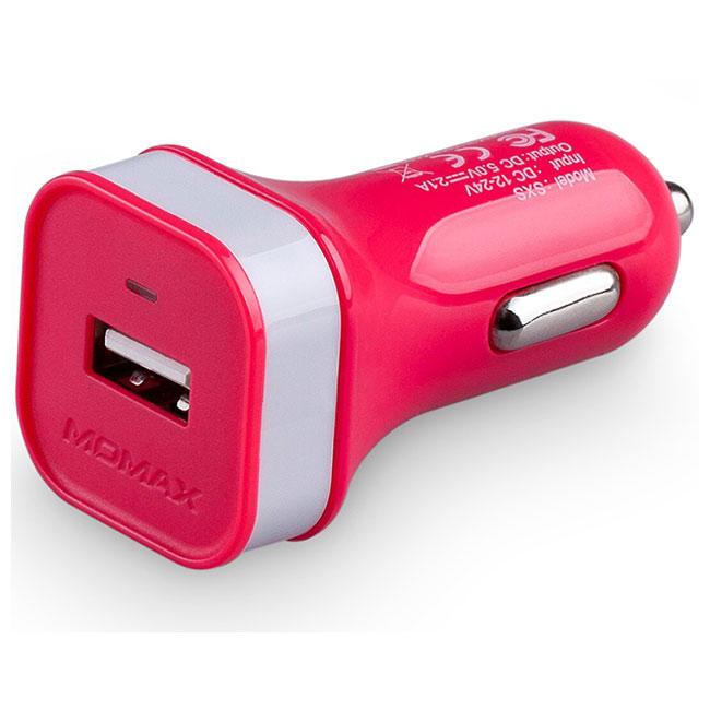 Автомобильное зарядное устройство Momax XC 1A 2-USB (Pink) (SXDP)