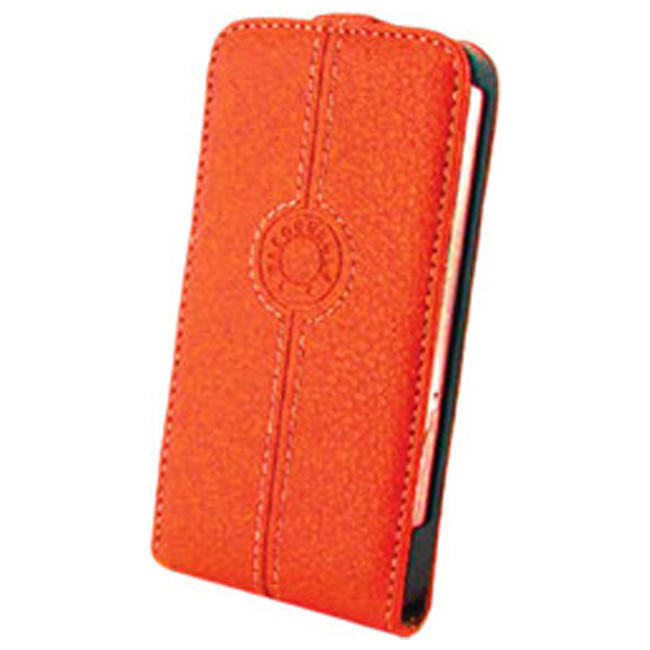 Чехол-флип Faconnable Leather Case for Apple iPhone4S Flip Type - Orange