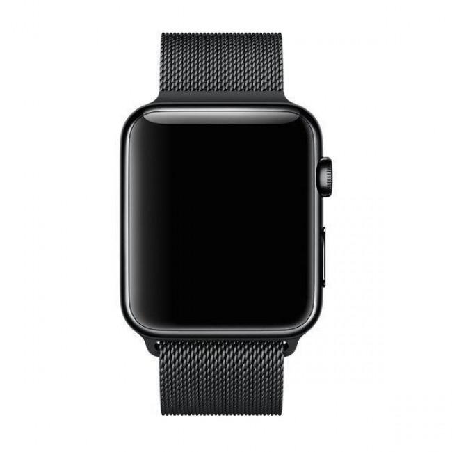 Ремешок Apple Watch 42mm Milanese Loop Band Black (MJ54L2)