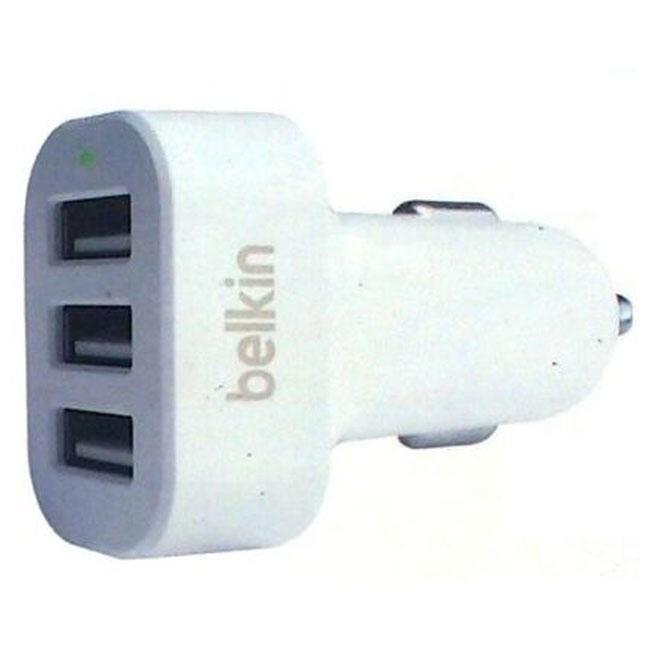 Автомобильное зарядное устройство Belkin 5.2A 3-USB Lighting (White) (F8J072BT03_W)