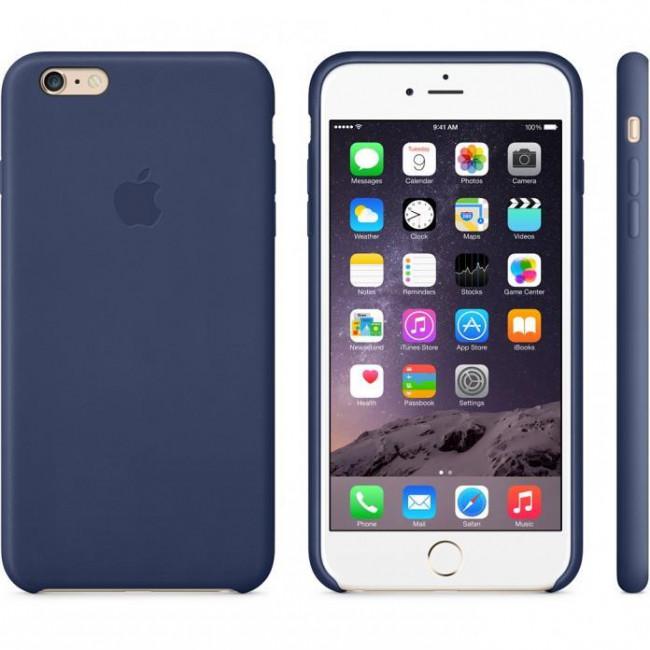 Чехол Apple iPhone 6 Plus Leather Case Midnight Blue (MGQV2)