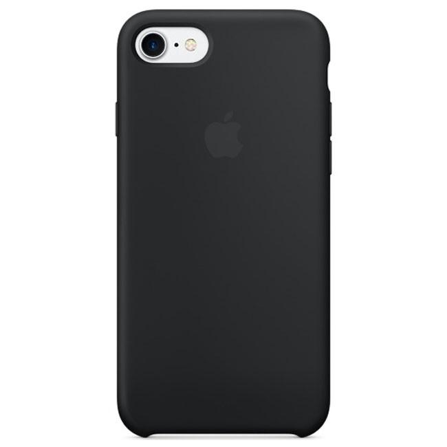 Чехол Apple iPhone 7 Silicone Case Black (MMW82)