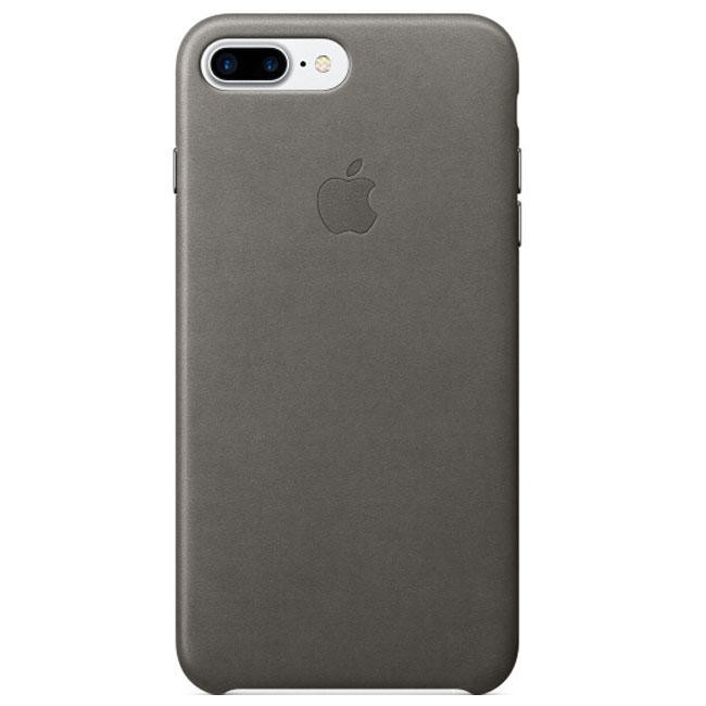 Чехол Apple iPhone 7 Plus Leather Case Storm Gray (MMYE2)