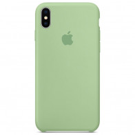 Чехол Apple iPhone XS Max Silicone Case Light Green (Original copy)