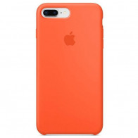 Чехол Apple iPhone 8 Plus Silicone Case Orange (Original copy)