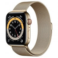 Apple Watch Series 6 GPS + LTE 44mm Gold Stainless Steel Case w.Gold Milanese Loop (M07P3/M09G3)