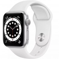 Apple Watch Series 6 GPS 40mm Silver Aluminum Case with White Sport Band (MG283)