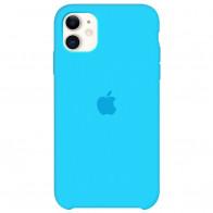 Чехол Apple iPhone 11 Silicone Сase - Blue (Original copy)