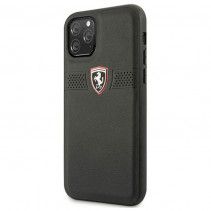 Чехол Ferrari Leather Hard Case Off Track Grained for iPhone 11 Pro - Black