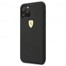 Чехол Ferrari Silicone Hard Case SF Logo Shield for iPone 11 Pro Max - Black