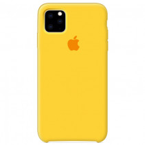 Чехол Apple iPhone 11 Silicone Сase - Yellow (Original copy)