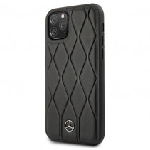 Чехол Mercedes Benz Leather Hard Case Quilted Genuine for iPhone 11 Pro Max - Black