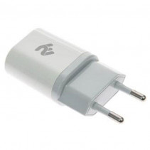 Сетевое зарядное устройство 2E USB 2A (2E-WCRT29-2W) White