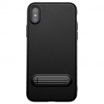 Чехол-накладка Baseus Happy Watching Supporting Case for iPhone X Black (WIAPIPHX-LS01)