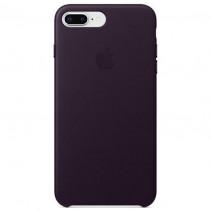 Чехол Apple iPhone 8 Plus Leather Case Dark Aubergine (MQHQ2)