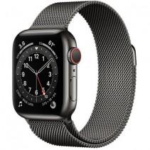 Apple Watch Series 6 GPS + LTE 40mm Graphite Stainless Steel Case w.Graphite Milanese Loop (M06Y3)